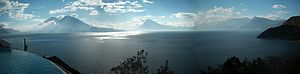 Water resources management in Guatemala - Atitlán Lake. Picture taken near Santa Catarina Palopó.