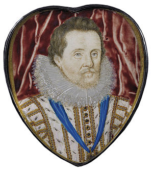 Laurence Hilliard - Miniature portrait of James I, attributed to Laurence Hilliard