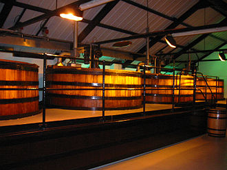 Auchentoshan distillery - The Fermentation Tanks