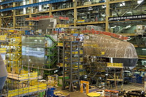 Astute-class submarine - Audacious under construction