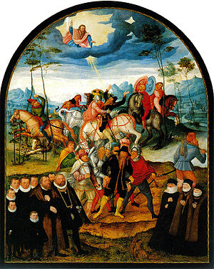 Augustin Cranach - The Blinding of St. Paul (1586) oil on Canvas, about 170 x 140 cm