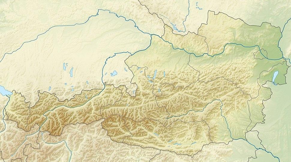 Austria relief map