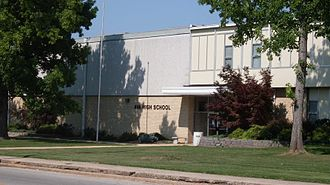 Douglas County, Missouri - Ava High School in Ava, Missouri