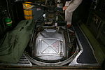 B-24J's retracted Sperry ball turret, bomber's interior view.JPG
