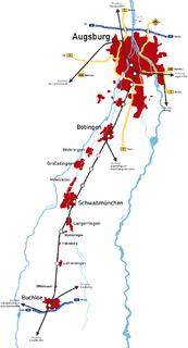 Augsburg–Buchloe railway railway line