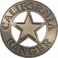 Historic California Ranger Badge