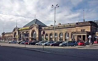 railway station in Dresden, Germany