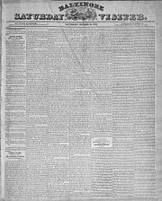 Baltimore Saturday Visiter, October 19, 1833, Prize tale.jpg