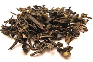 Ban Tian Yao tea - Image: Ban Tian Yao Oolong tea leaf
