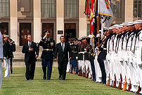 Barak at the Pentagon in 1999