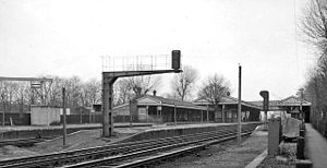 Barnes railway station - The station in 1962