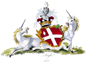 Baron Leigh - The coat of arms of the Barons Leigh  (of the first creation).