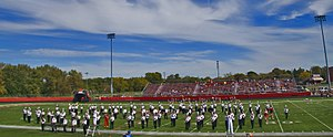 Barrington High School (Illinois) - Barrington High School marching band at homecoming football game