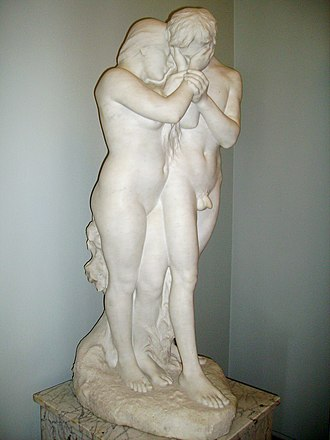"Albert Bartholomé - A version of ""Adam and Eve"" in Leningrad"