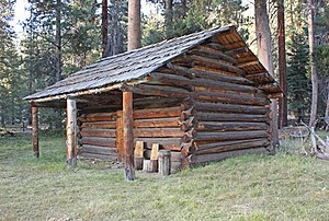 National Register of Historic Places listings in Tulare County, California - Image: Barton Lackey Cabin