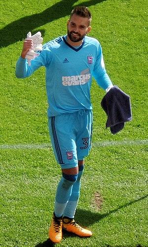 Bartosz Białkowski - Bartosz Bialkowski playing for Ipswich Town in 2017