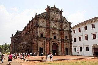 Basilica of Bom Jesus Church in Old Goa, India