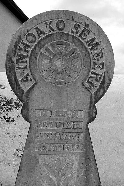Basque war memorial