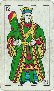 King of Wands playing card