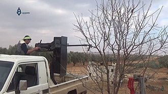 Operation Euphrates Shield - TFSA technical in the outskirts of al-Bab