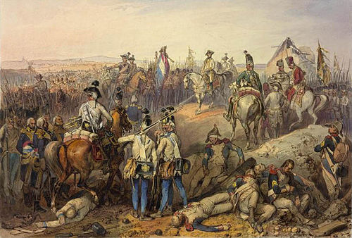 Austrian soldiers at Neerwinden during the Revolutionary Wars, 1793 Bataille de Neerwinden (1793).jpg
