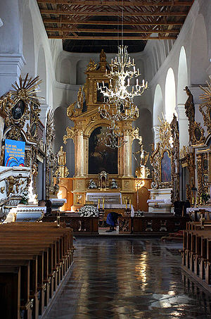 Pułtusk - The Interior of the Gothic Church of Bazylika Zwiastowania at Pułtusk