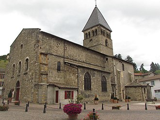 Beaujeu, Rhône - The Church of Saint-Nicolas, in Beaujeu