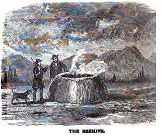 Beehive Geyser - Image: Beehive Geyser Moran 1871