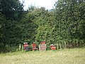 Beehives beside a railway embankment - geograph.org.uk - 1432305.jpg