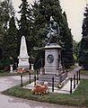 Beethoven grave and Mozart memorial - Zentralfriedhof Vienna.jpg