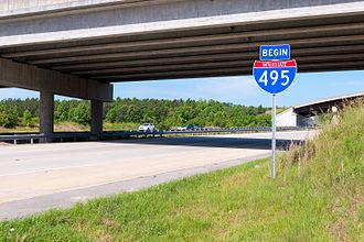 Interstate 87 (North Carolina) - Northern terminus of I-495, in Knightdale