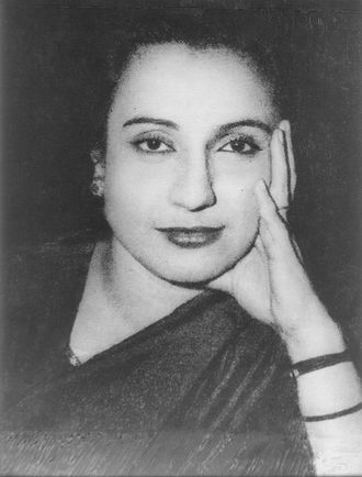 East Bengal - Begum Shaista Suhrawardy Ikramullah, one of the first female lawmakers from East Bengal