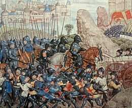 Description de l'image Belagerung von Calais 1346-1347.JPG.