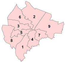 Map Showing Location Of District Electoral Areas Prior To 2014 Reorganization 1 Balmoral 2 Castle 3 Court 4 Laganbank 5 Lower Falls 6 Oldpark