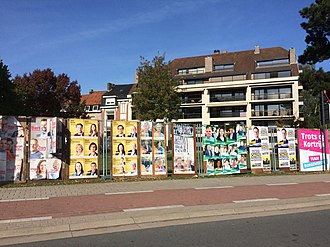 2018 Belgian local elections - Campaign posters in Kortrijk