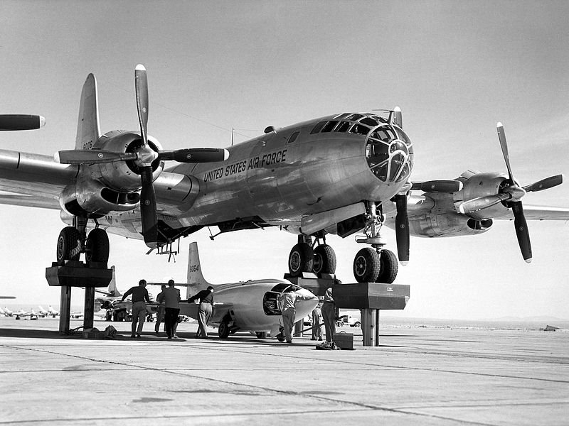 File:Bell X-1-3 being mated with the motherplane.jpg