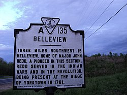 Belleview Historic Marker Henry County Virginia.JPG