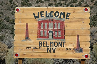 Belmont, Nevada - Belmont welcome sign on the edge of town