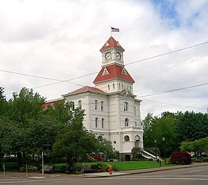 National Register of Historic Places listings in Benton County, Oregon - Image: Benton County Court House