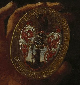 Berenberg Bank - Coat of arms of the Berenberg family (detail, 1710)