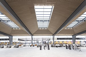 Bergen Airport, Flesland - Check in area in the new terminal opened in 2017.