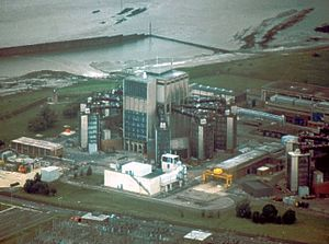Berkeley nuclear power station - One of the two reactor blocks in 1981