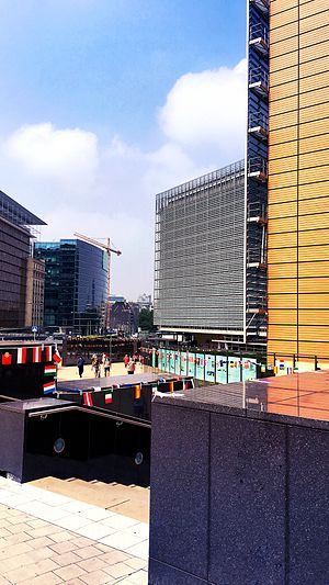 Berlaymont building - Berlaymont area in 2016