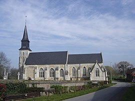 The church in Berville-sur-Mer