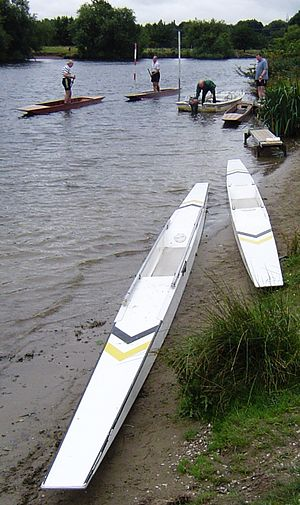 Thames Valley Skiff Club - TVSC best and best punts at Chertsey Regatta