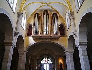 Church of Saint Catherine, Bethlehem - Image: Bethlehem Katharinenkirche Innen Orgel