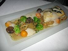 Beurre noisette sauced halibut with vegetables.jpg