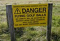 Beware of flying golf balls - geograph.org.uk - 1511794.jpg
