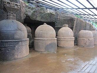 Bhaja Caves - Outside stupas