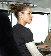 Biel aboard USS Abraham Lincoln, June 15, 2004